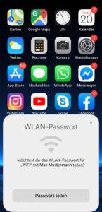 iPhone Anzeige Passwort teilen
