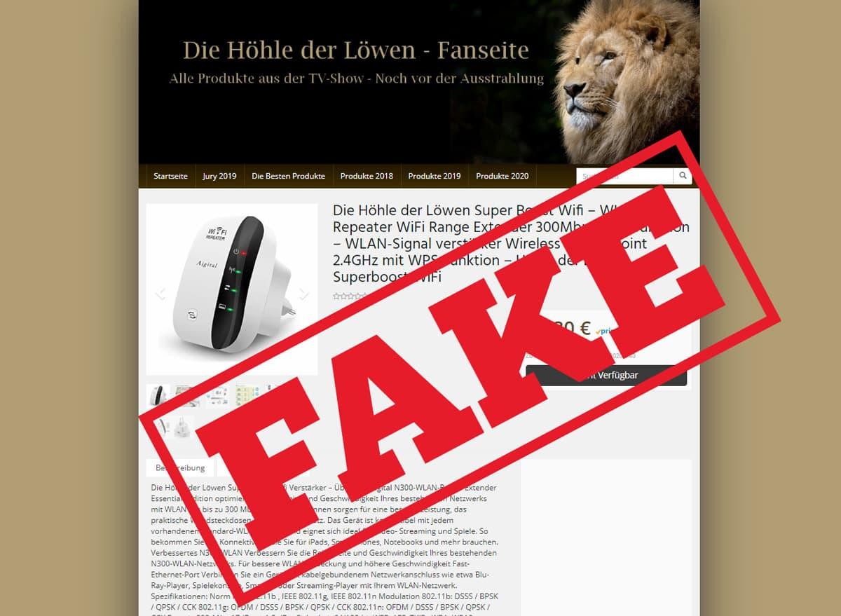 Super Boost Wifi Höhle der Löwen Fake